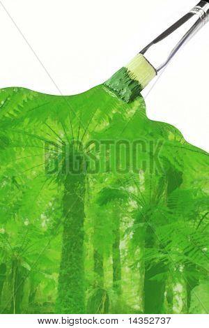 Paint it green ~ artist's paintbrush