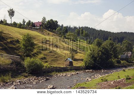 Small Settlement Mountain Rural Nature