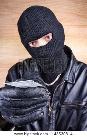 Drug dealer selling heroin or cocaine mafia