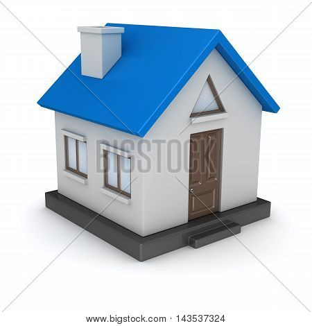 3d render of small house. 3d render and computer generated image.