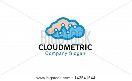 Cloud Metrics Creative And Symbolic Design Illustration