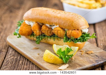 Fresh Made Snack (sandwich With Fish Sticks)