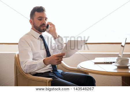 Attractive Lawyer Working In A Business Trip