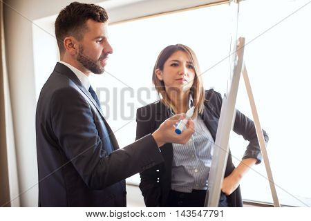 Business Coworkers Working On A Presentation