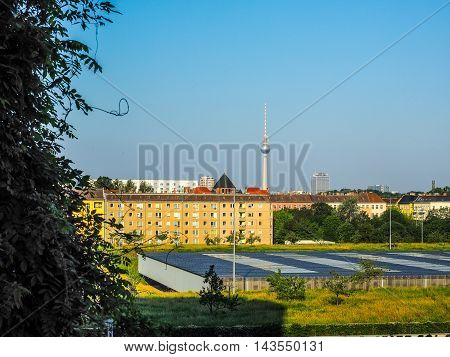 View Of Berlin Skyline (hdr)