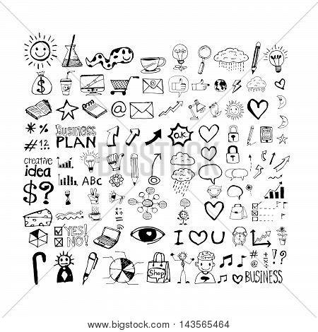 an images of hand draw Business doodles Illustration design