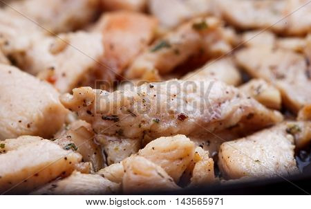Studio Shooting Of A Fried Chicken Pieces As Backgrund