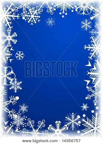 Beautiful winter background. Vector illustration.