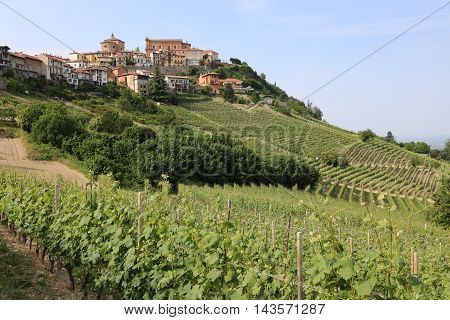 Small Town La Morra in Piedmont. Italy