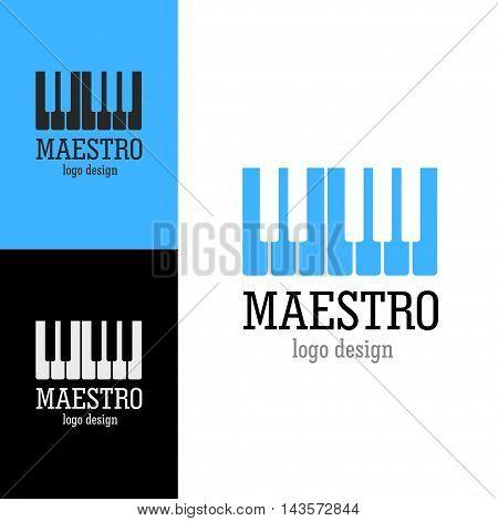 Logo design Maestro, vector art for web and print