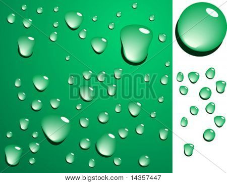 Green wet surface. Blends are used.