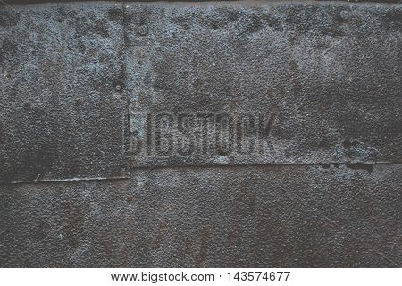 Texture of rusty metal on the wall