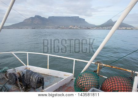 View Of Table Mountain From Within Table Bay