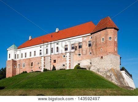 Medieval Gothic castle in Sandomierz Poland built in 14th century