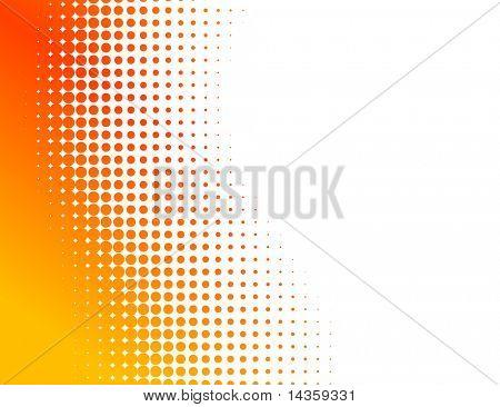 Orange half-tone background. Vector illustration. poster