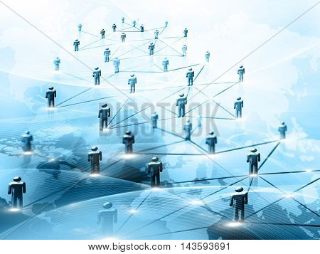 Best Internet Concept of global business.Technological background. Rays symbols Wi-Fi, of the Internet, television, mobile and satellite communications