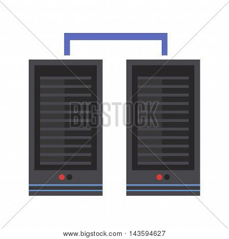 Server, data, datacenter icon vector image.Can also be used for networking. Suitable for mobile apps, web apps and print media.