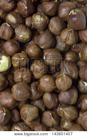 background filbert nuts close up shot Mixed Salted Nutty