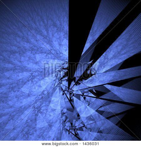 shattered look fractal rendered background on black poster