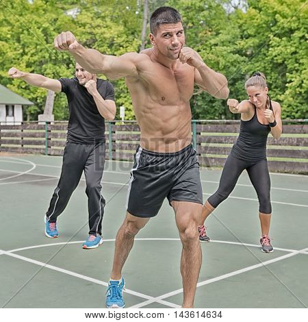 Doing Jabs On Tae Bo Training, square image,