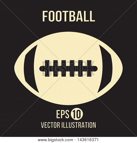 Football design vector on the brown background