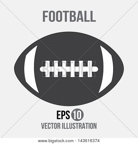 Football design vector on the grey background