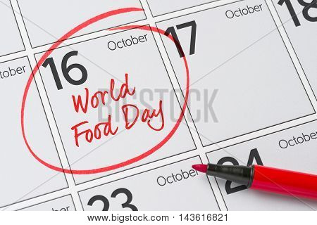 World food day October 16 - Save the date