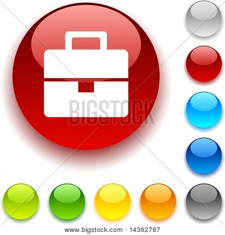 Bag shiny button. Vector illustration.