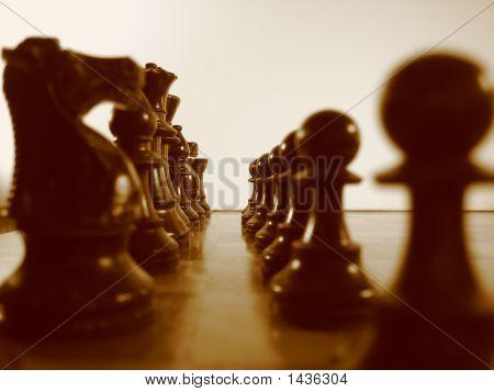 Lined Up-Sephia