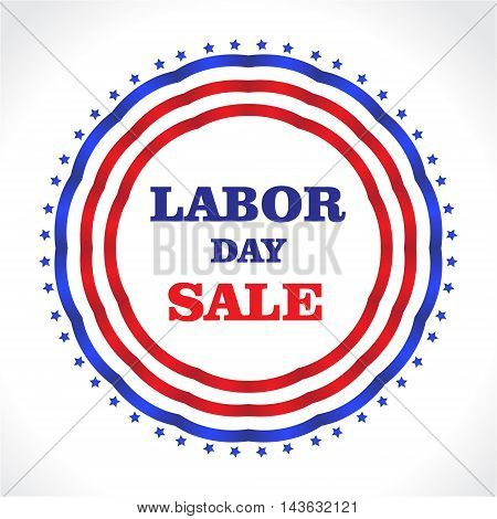 US Labor day. American Labor day discounts sale. Vector illustration.