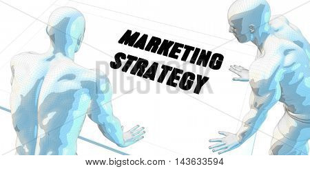 Marketing Strategy Discussion and Business Meeting Concept Art 3D Illustration Render