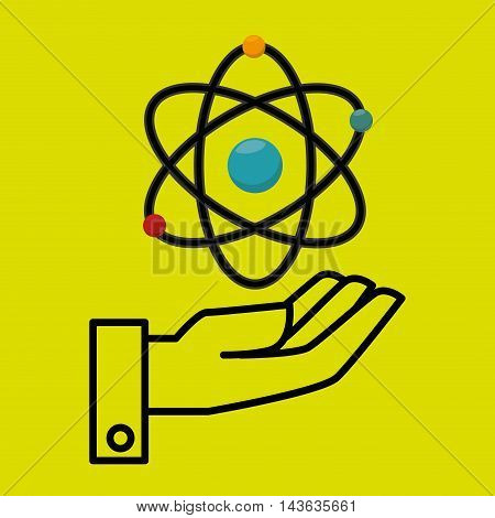 hand laboratory tools chemistry vector illustration graphic