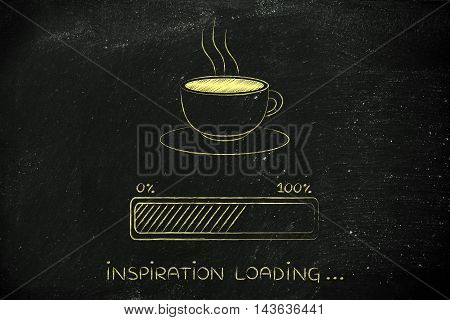 Coffee Cup & Progress Bar Loading Inspiration