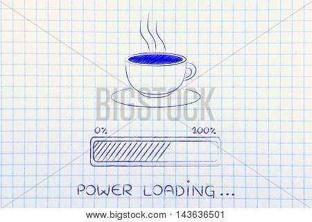 Coffee Cup & Progress Bar Loading Power