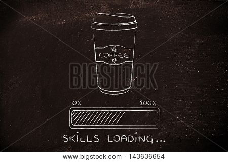 Coffee Tumbler And Progress Bar Loading Skills