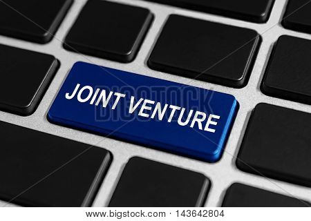 joint venture company button on keyboard business concept