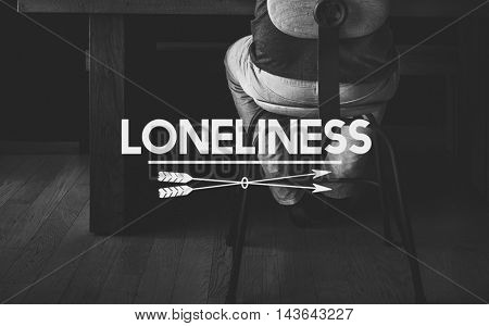 Despair Loneliness Unhappy Heartbroken Concept