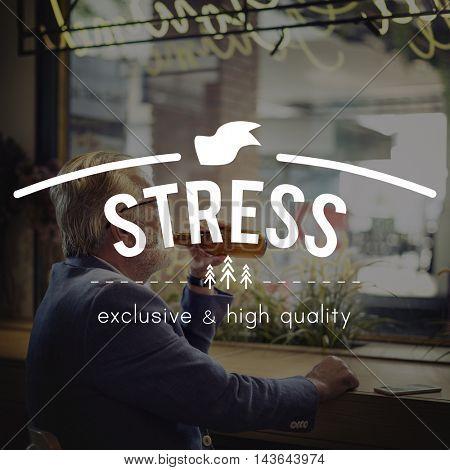 Stress Problem Tension Panic Frustration Concept