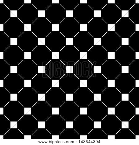 Square and line seamless pattern. Fashion graphic background design. Modern stylish abstract texture. Monochrome template for prints textiles wrapping wallpaper website. Stock VECTOR illustration
