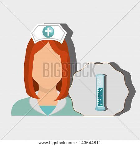 nurse woman tube lab chemistry vector illustration graphic