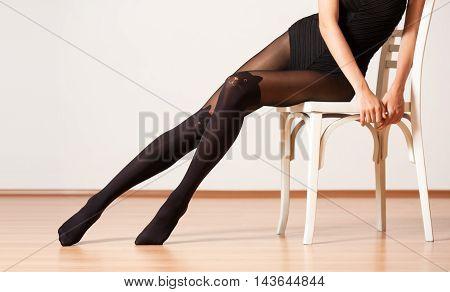 Long Legs In Stockings.