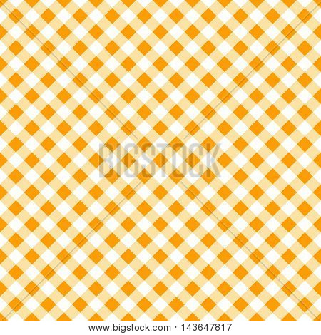autumn orange gingham seamless pattern. thanksgiving or halloween background. vector illustration