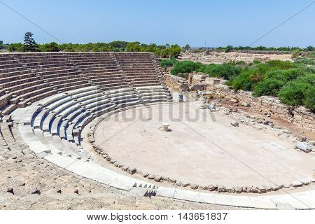 Ancient Theater Of Salamis Near Famagusta