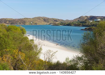Morar coast Scotland UK beautiful coastal Scottish tourist destination located south of Mallaig poster