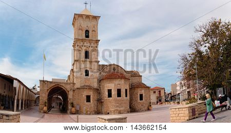 LARNACA, CYPRUS - MARCH 12, 2016: People at the church of Saint Lazarus. The church is named for New Testament figure Lazarus of Bethany, which was raised from the dead by Jesus