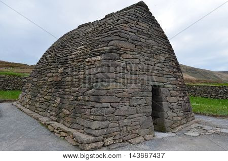 Stone gallarus oratory on Slea Head Penninsula in Ireland.