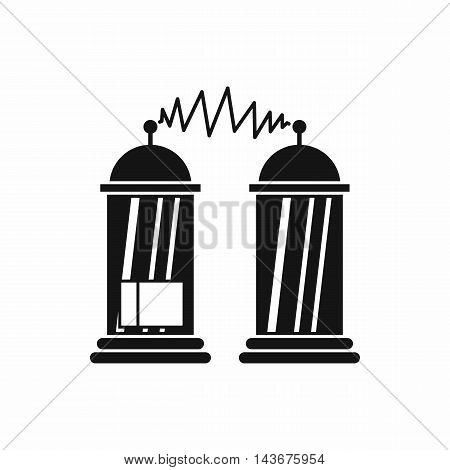 Electrical impulses icon in simple style isolated on white background