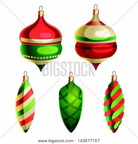 Vector illustration of Christmas Decorations Postcard, Greeting Card, Poster, Banner
