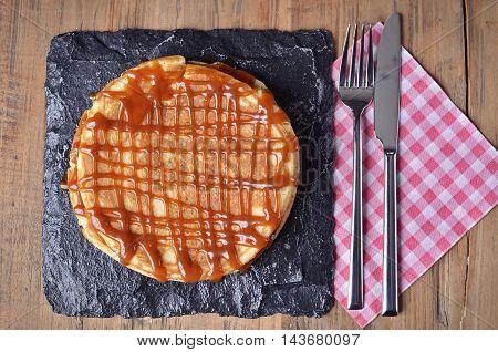 Pancake With Salted Caramel