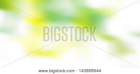 Blurred Abstract Background In Green Tones